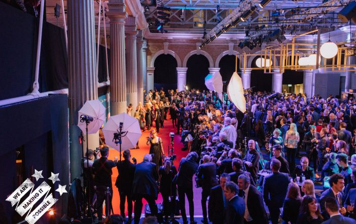 Image of guests on the red carpet at BIFAs