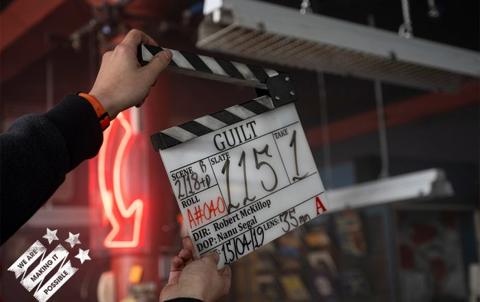Clapper board for GUILT, produced by Jules Hussey