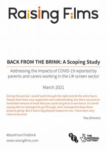 Cover of Back From The Brink scoping study