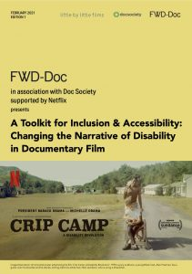 Cover image of the Toolkit for Inclusion & Accessibility: Changing the Narrative of Disability in Documentary Film